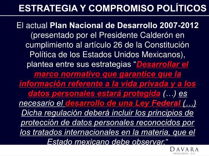 ESTRATEGIA Y COMPROMISO POLÍTICOS