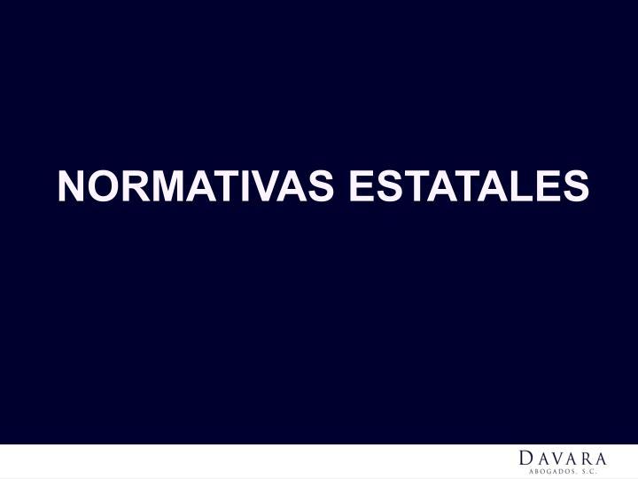 NORMATIVAS ESTATALES