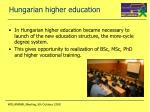 hungarian higher education
