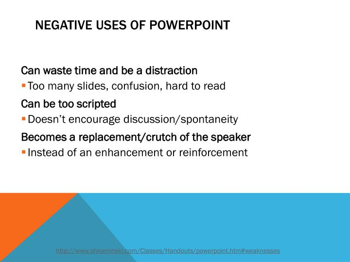 Negative uses of powerpoint