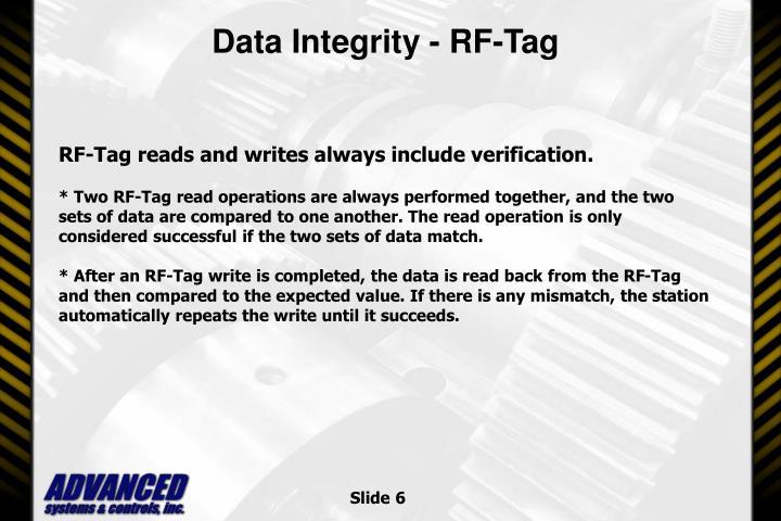 Data Integrity - RF-Tag