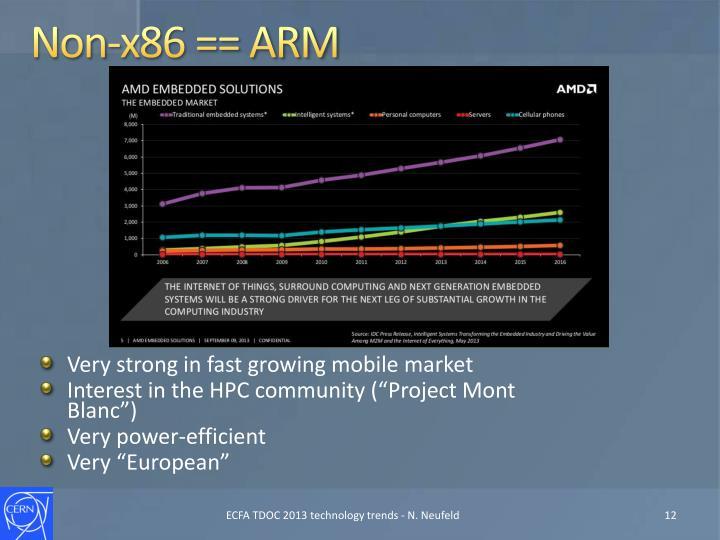 Non-x86 == ARM