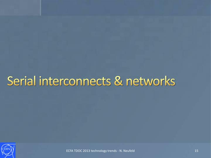 Serial interconnects & networks