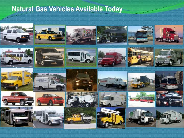 Natural Gas Vehicles Available Today