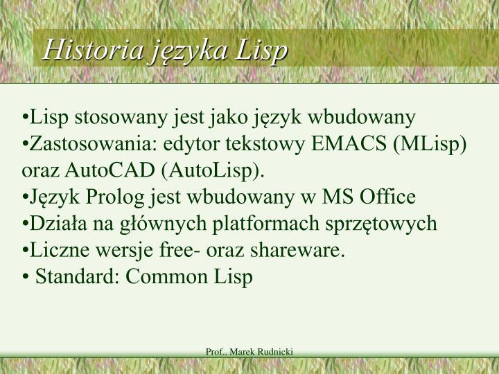 Historia języka Lisp