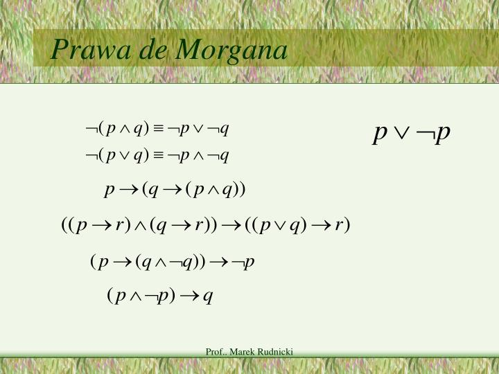 Prawa de Morgana