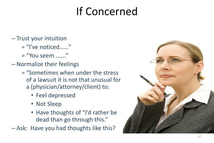 If Concerned