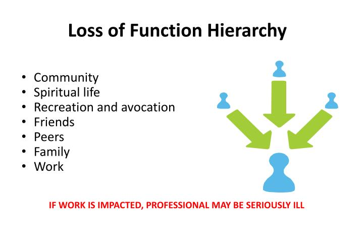 Loss of Function Hierarchy