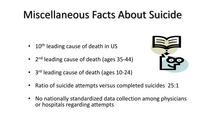 Miscellaneous Facts About Suicide