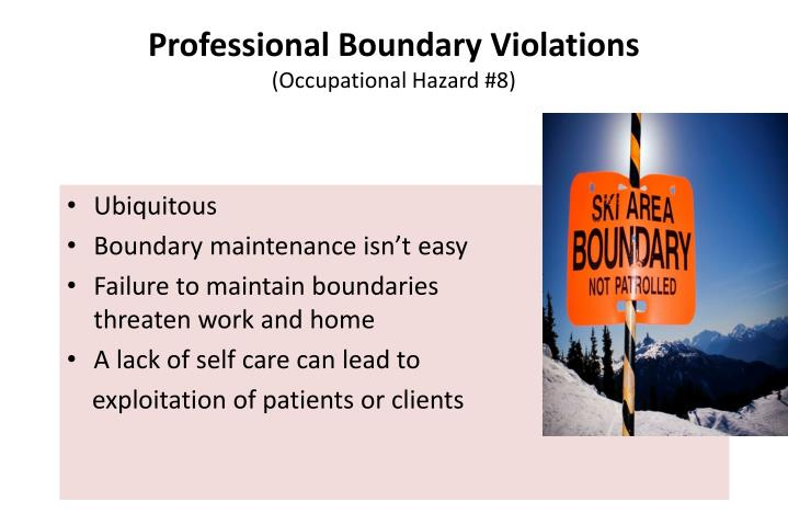 Professional Boundary Violations