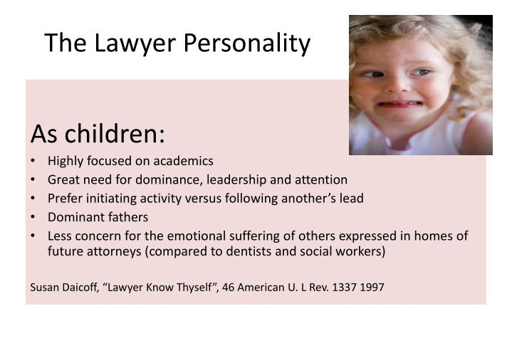 The Lawyer Personality