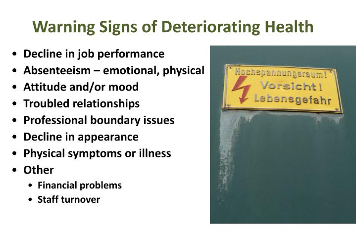 Warning Signs of Deteriorating Health
