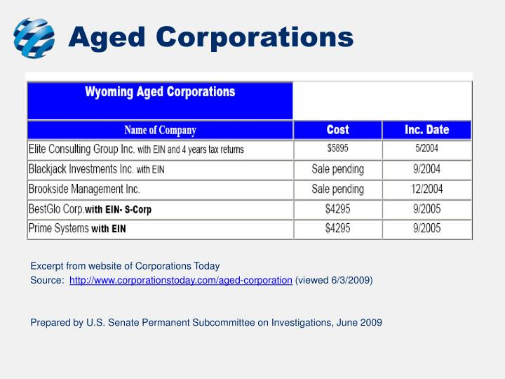 Aged Corporations