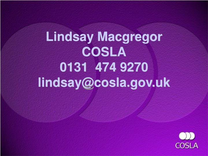 Lindsay Macgregor