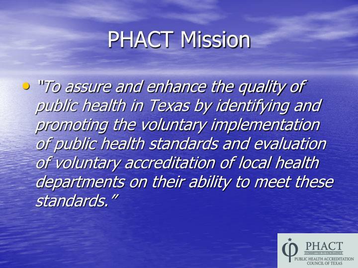 PHACT Mission