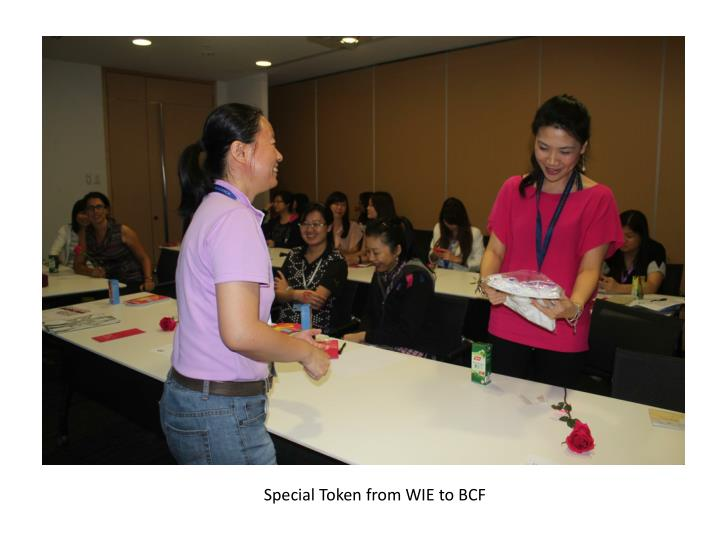 Special Token from WIE to BCF