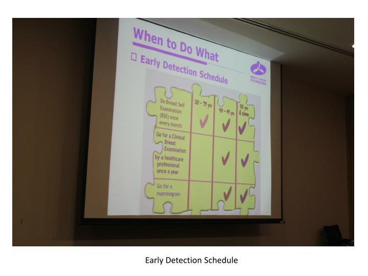 Early Detection Schedule