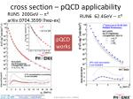 cross section pqcd applicability