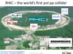rhic the world s first pol pp collider