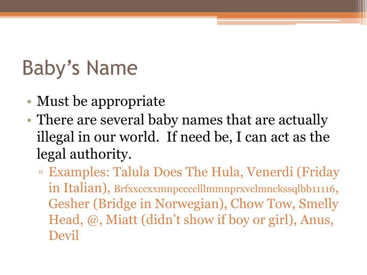 Baby's Name