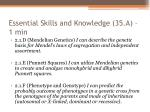 essential skills and knowledge 35 a 1 min