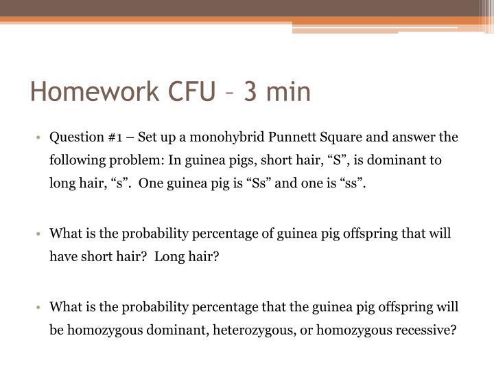 Homework CFU – 3 min