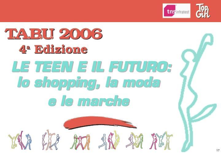 LE TEEN E IL FUTURO: