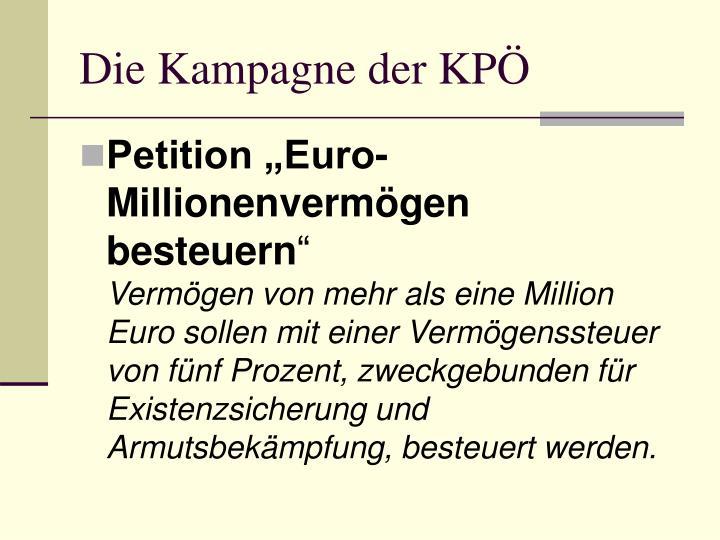 Die Kampagne der KPÖ