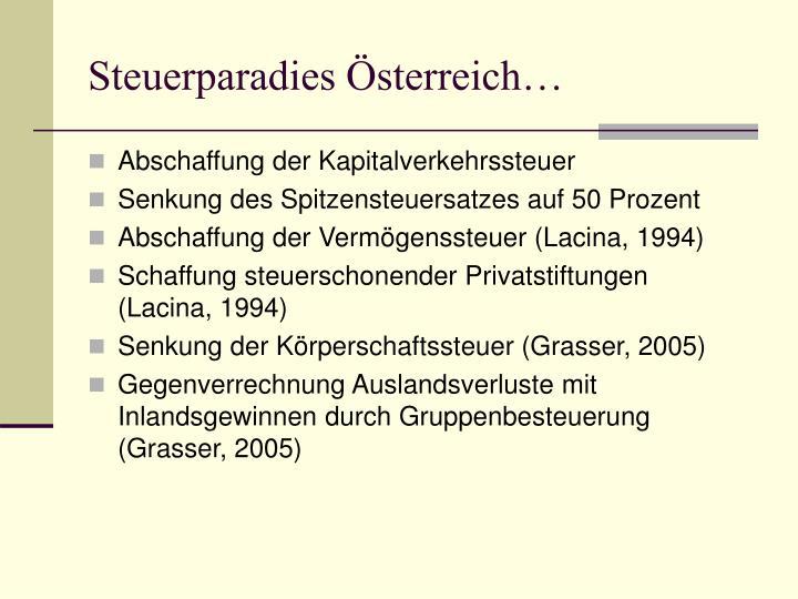 Steuerparadies Österreich…