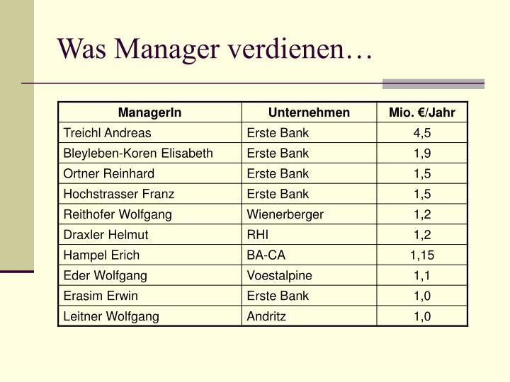 Was Manager verdienen…
