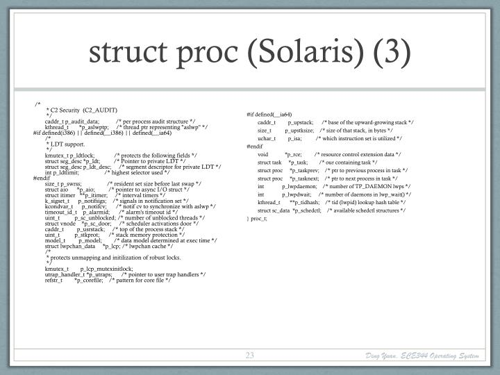 struct proc (Solaris) (3)