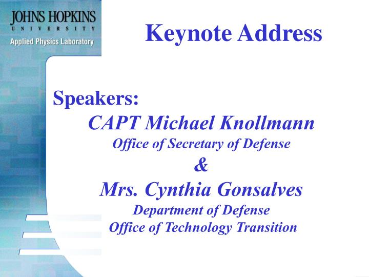 Keynote Address