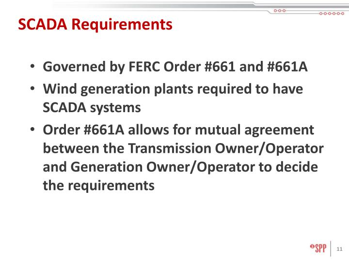 SCADA Requirements