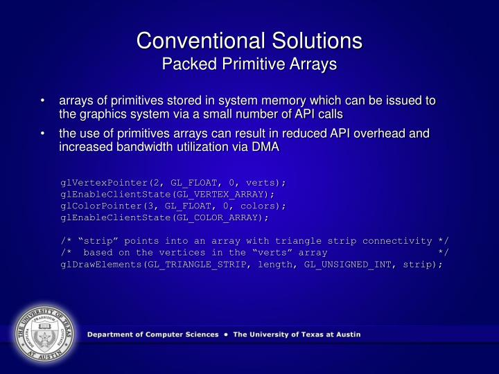 Conventional Solutions