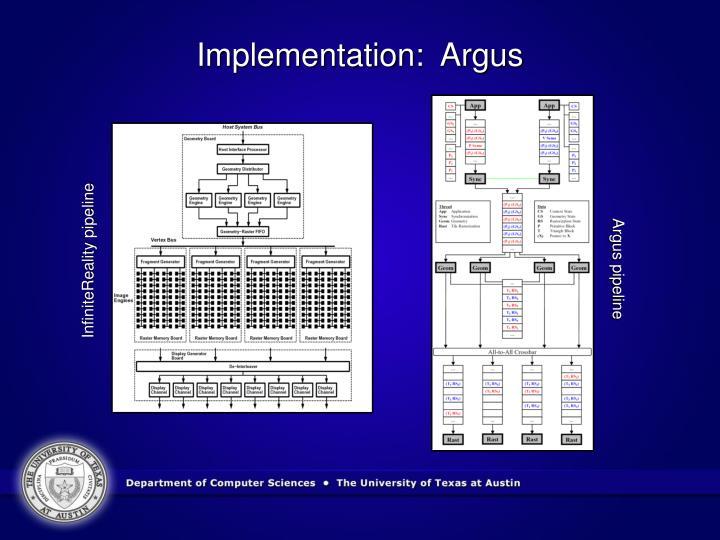 Implementation:  Argus