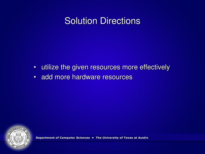 Solution Directions
