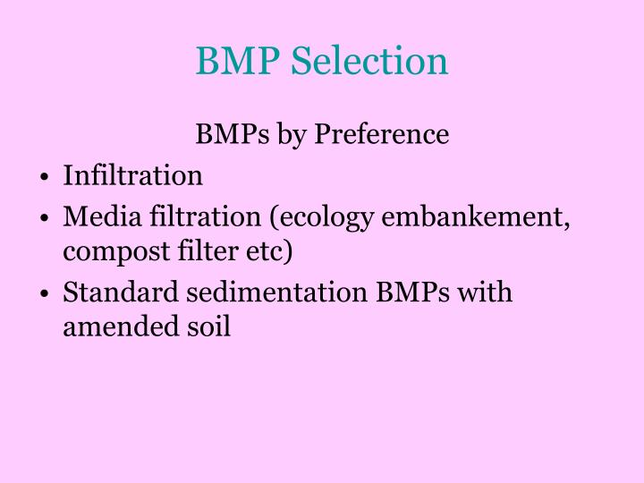 BMP Selection