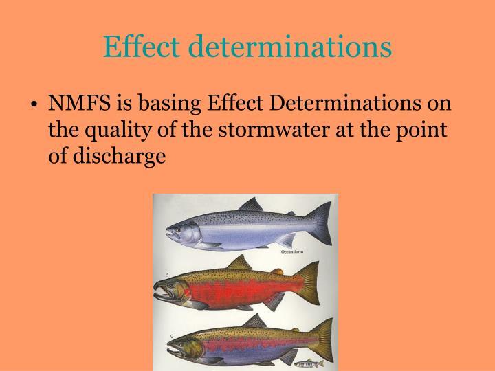 Effect determinations
