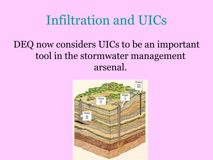 Infiltration and UICs