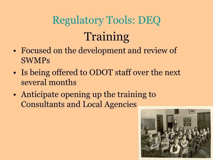 Regulatory Tools: DEQ