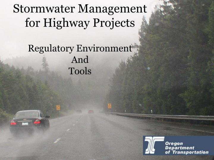 Stormwater Management for Highway Projects