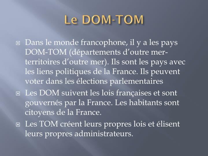 Le DOM-TOM