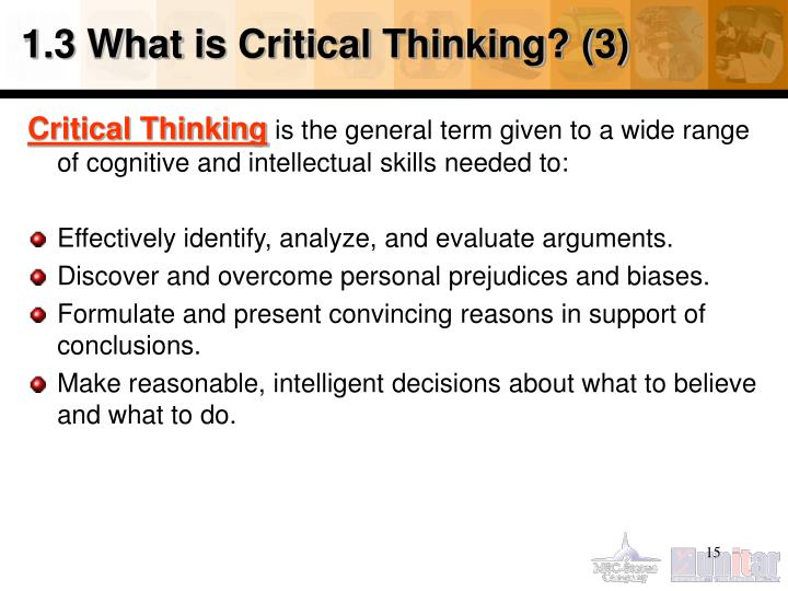 1.3 What is Critical Thinking? (3)