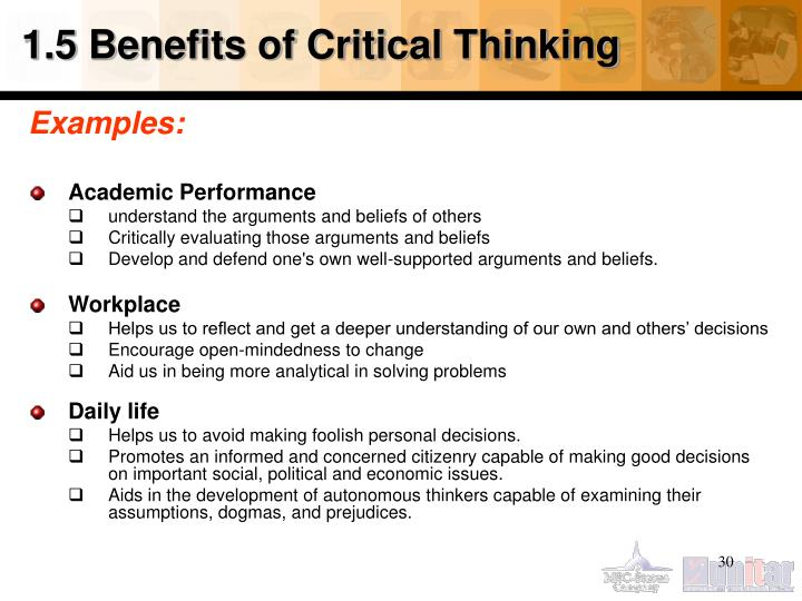 1.5 Benefits of Critical Thinking