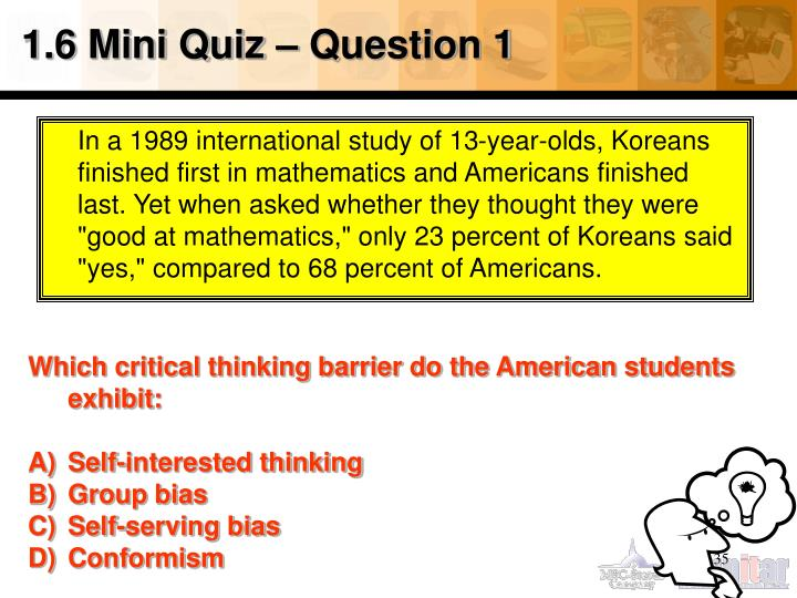 1.6 Mini Quiz – Question 1
