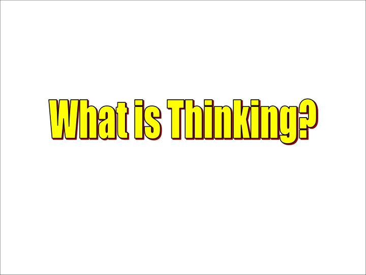 What is Thinking?