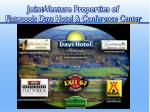 joint venture properties of flatwoods days hotel conference center