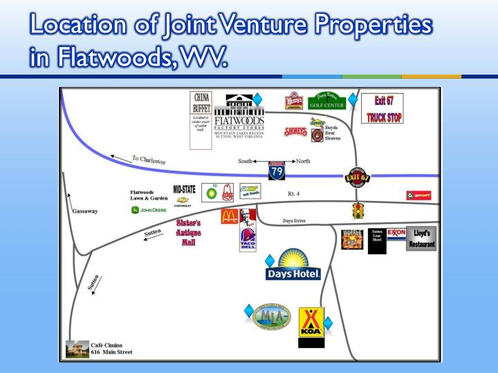 Location of Joint Venture Properties