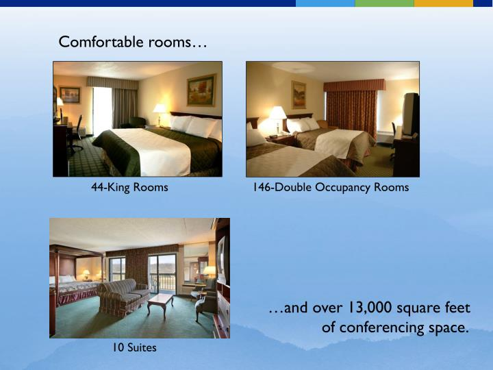 Comfortable rooms…