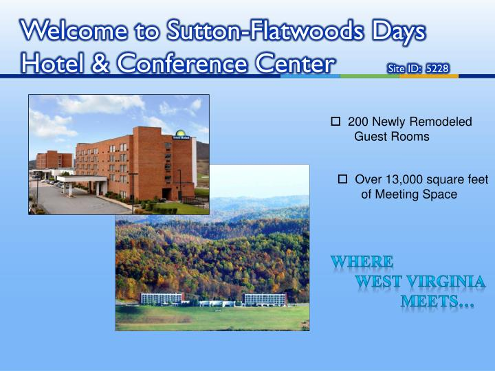 Welcome to sutton flatwoods days hotel conference center site id 5228